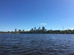 Kayaking against headwinds on the Mighty Mississippi