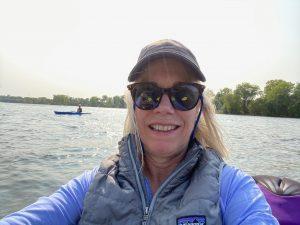 Taking a paddling break on Mississippi